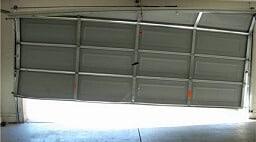 garage door of track